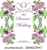 summer wedding invitation... | Shutterstock .eps vector #284823947