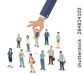 businessman hand picking up... | Shutterstock .eps vector #284824103