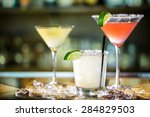 variety of cocktails at the bar. | Shutterstock . vector #284829503