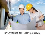 engineer  construction ... | Shutterstock . vector #284831027