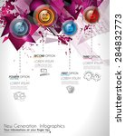 infographic abstract template... | Shutterstock .eps vector #284832773