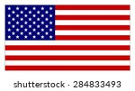 flag of the united states of... | Shutterstock .eps vector #284833493