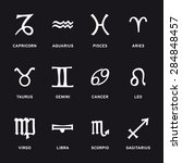 zodiac symbols signs icons... | Shutterstock .eps vector #284848457
