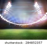 green soccer field  bright... | Shutterstock . vector #284852357