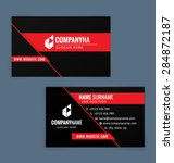 Business Card Template. Black...