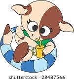 lovely calf | Shutterstock .eps vector #28487566