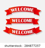 set of welcome ribbon vector... | Shutterstock .eps vector #284877257