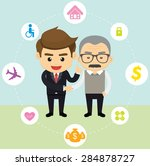 business insurance character... | Shutterstock .eps vector #284878727