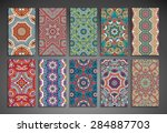 cards. vintage decorative... | Shutterstock .eps vector #284887703