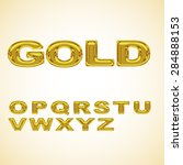 alphabet stylized gold | Shutterstock .eps vector #284888153