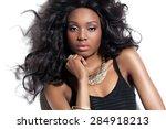 beautiful african fashion model ... | Shutterstock . vector #284918213