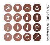 barbershop icons universal set... | Shutterstock . vector #284937767