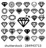 diamond icons set. vector... | Shutterstock .eps vector #284943713