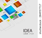 square cover template easy all... | Shutterstock .eps vector #284957717