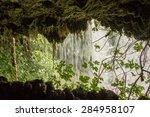 Inside Of The Duden Waterfall...