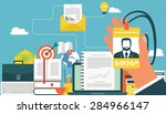 concepts for web banners and... | Shutterstock .eps vector #284966147