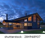 Scandinavian House In The Nigh...