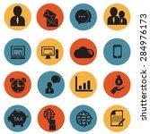 business icons set  | Shutterstock .eps vector #284976173