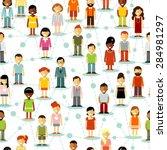 seamless background social... | Shutterstock .eps vector #284981297