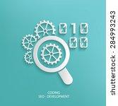 coding design on blue... | Shutterstock .eps vector #284993243