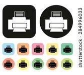 printer icon. vector | Shutterstock .eps vector #284996033