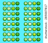 green game icons buttons icons  ...