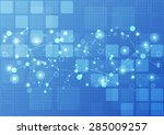 abstract future technology... | Shutterstock .eps vector #285009257