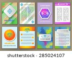 set of fliers with abstract...   Shutterstock .eps vector #285024107