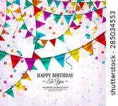 vector birthday card with...   Shutterstock .eps vector #285034553