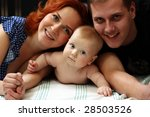 picture of happy family with... | Shutterstock . vector #28503526