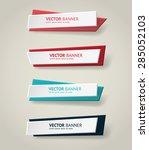 vector infographic origami... | Shutterstock .eps vector #285052103