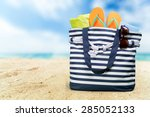 summer  bag  isolated. | Shutterstock . vector #285052133