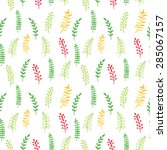 watercolor seamless pattern.... | Shutterstock .eps vector #285067157