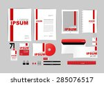 red and white with triangle... | Shutterstock .eps vector #285076517
