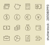 finance line icon set | Shutterstock .eps vector #285080993