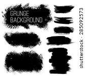 set of black ink vector stains | Shutterstock .eps vector #285092573