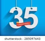 35 anniversary numbers with... | Shutterstock .eps vector #285097643