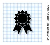 badge   vector icon with shadow | Shutterstock .eps vector #285104027