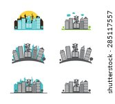 building icons set   isolated... | Shutterstock .eps vector #285117557