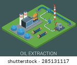 petroleum production extraction ... | Shutterstock .eps vector #285131117