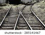 the way forward railway    Shutterstock . vector #285141467