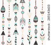 ethnic background with  tribal... | Shutterstock .eps vector #285143603