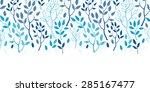 vector blue forest horizontal...   Shutterstock .eps vector #285167477