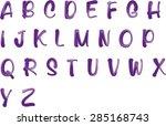english alphabet a to z | Shutterstock .eps vector #285168743
