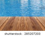 Swimming Pool And Wooden Deck...