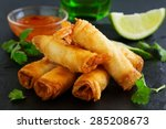 Spring Rolls With Shrimp With...