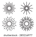 vintage sunburst vector set | Shutterstock .eps vector #285216977
