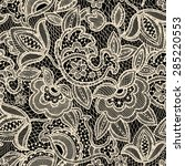 lace seamless pattern | Shutterstock .eps vector #285220553