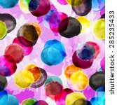 seamless watercolor colorful... | Shutterstock .eps vector #285235433