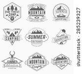 set of retro vintage summer... | Shutterstock .eps vector #285239327